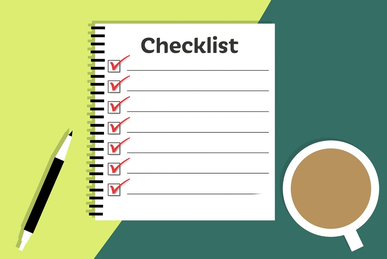 A checklist with all the jobs ticked
