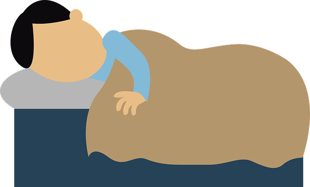 Illustration of a man sleeping